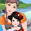 Mother and child make over game