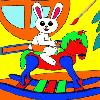 Christmas Bunny 1 - Rossy Coloring Games