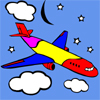 plane colouring game