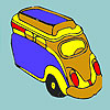 Concept milk bus coloring