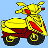 Concept motorcycle coloring