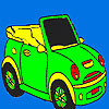 Open sports car coloring