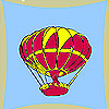 Flying balloon coloring