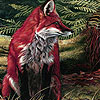 Red foxes in the wild  woods puzzle