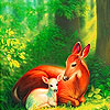 Beauty deers family slide puzzle