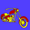 Hot road motorbike coloring