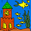 Fish village coloring