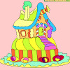 Kids coloring: Gingerbread house